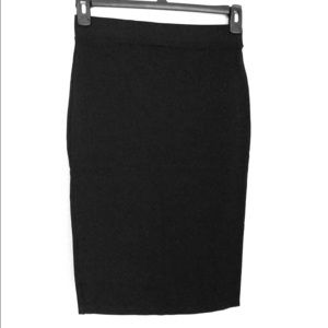 Fitted and Stretchy Black Pencil Skirt